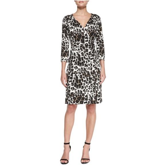 cb5e6469f708 Diane Von Furstenberg Dresses & Skirts - Diane von Furstenberg Leopard  Print Wrap Dress 6